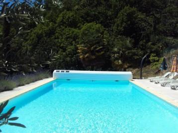 La piscine panoramique: 12 m (+1,5 m escalier) x 6 m