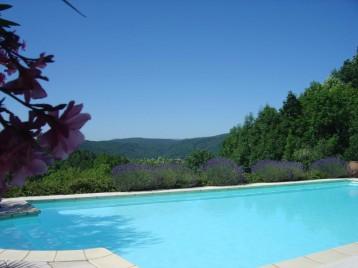 Vue panoramique de la piscine